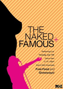 """Concept Concert Flyers, """"The Naked and Famous"""""""
