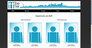 Company Staffing Page, Webpage Template