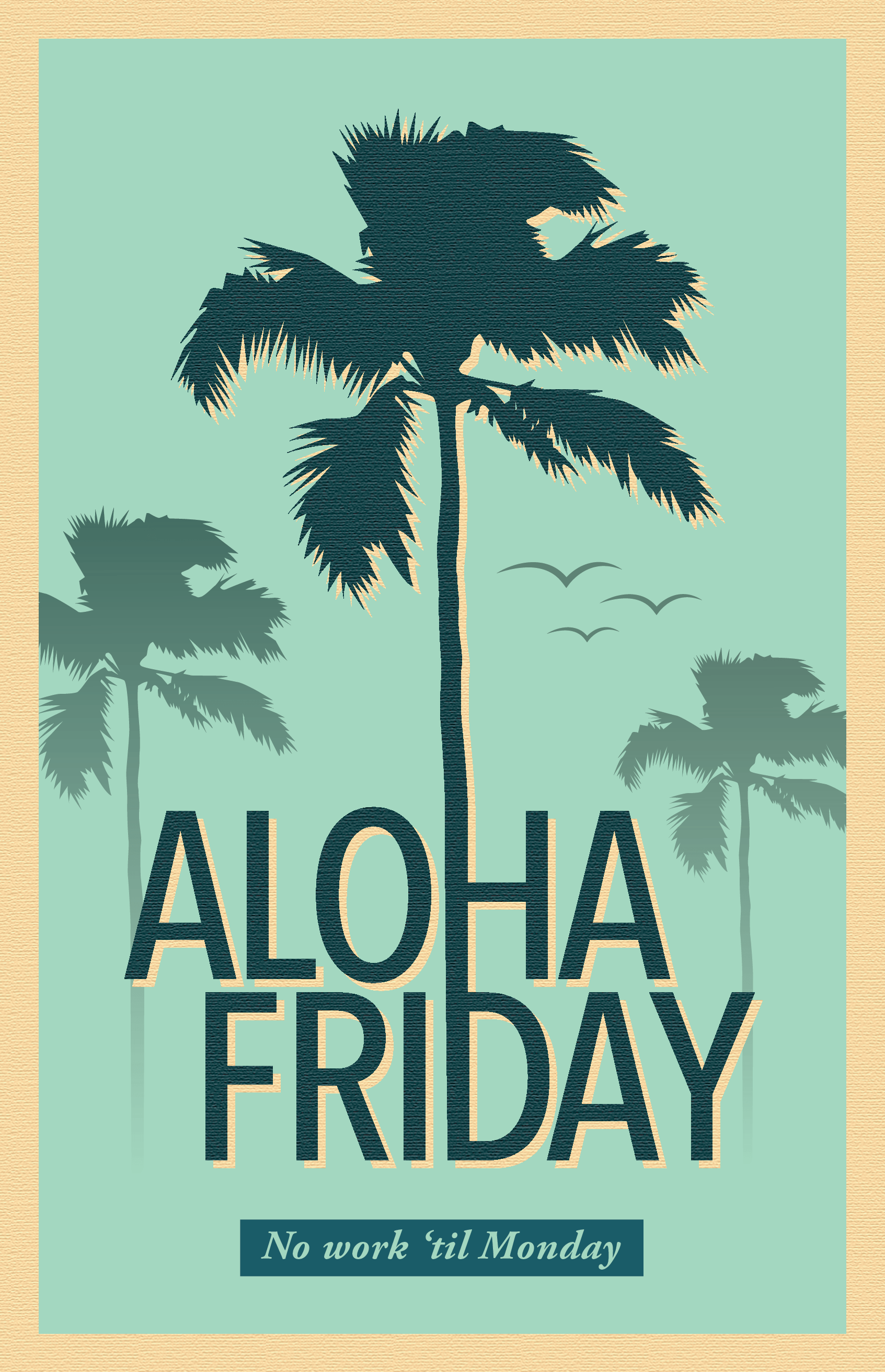 Coconut Tree Aloha Friday