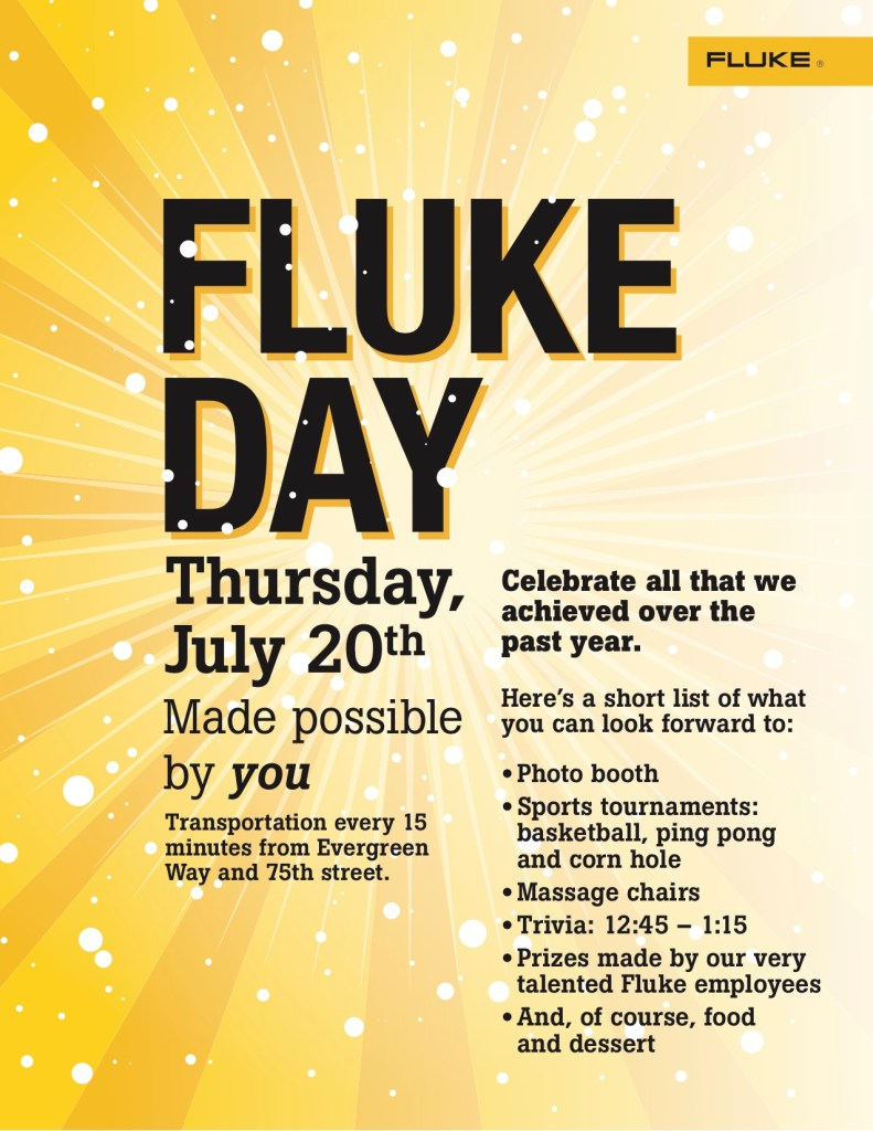 Fluke Day 2017 Flyer