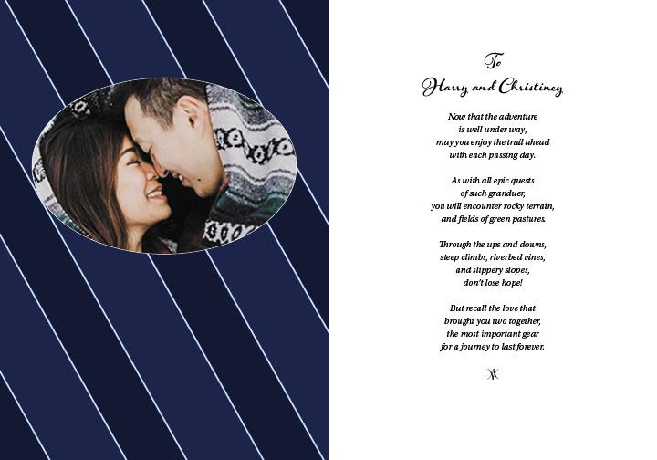 H&C Wedding Card