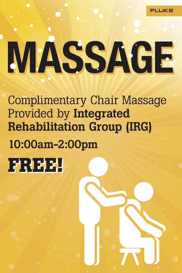 Fluke Day 2017 Massage Sign