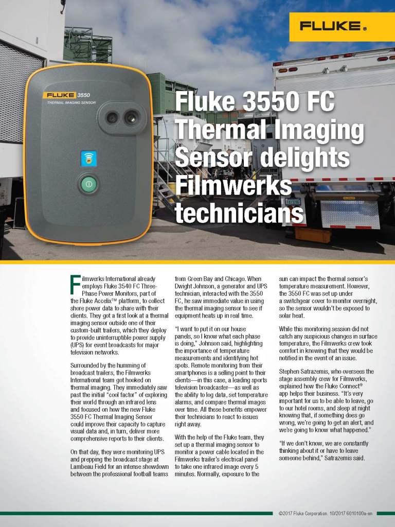 Filmwerks Tests 3550 FC, Flyer