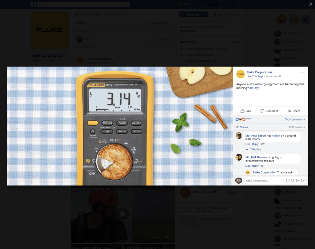 Fluke Pi Day Social Media Images