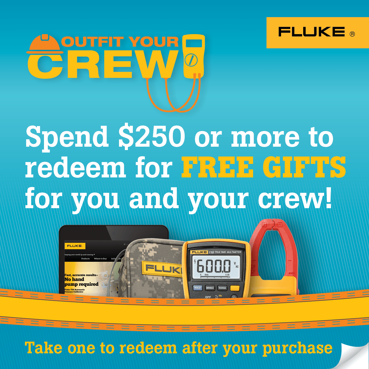 Fluke T3 National Promo, Outfit Your Crew, Tear-off Cards