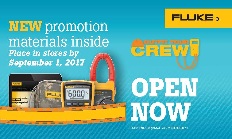 Fluke T3 National Promo, Outfit Your Crew, Shipping Box Label