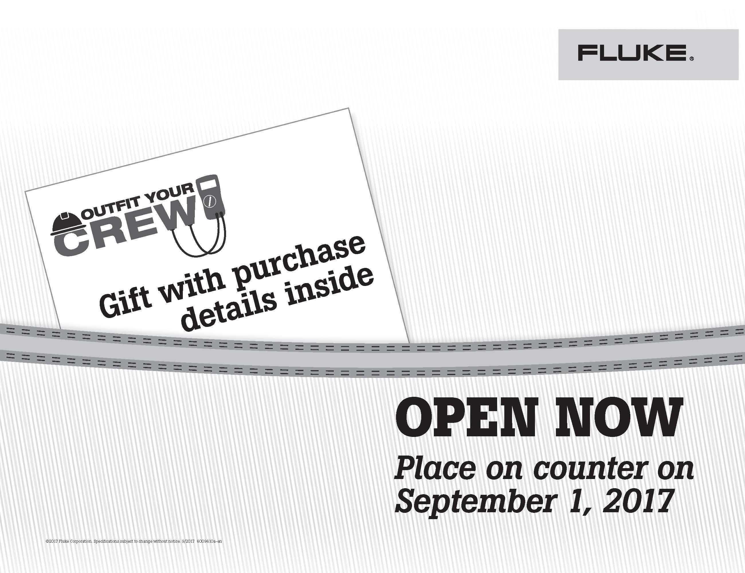 Fluke T3 National Promo, Outfit Your Crew, Kit Envelope