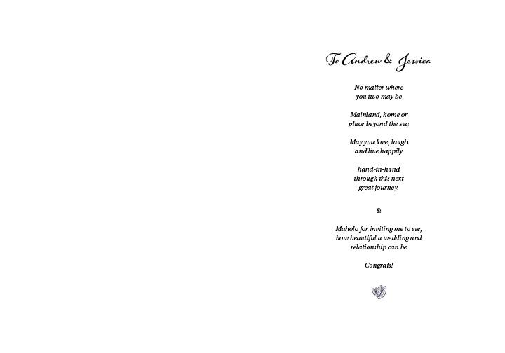 A&J Wedding Card