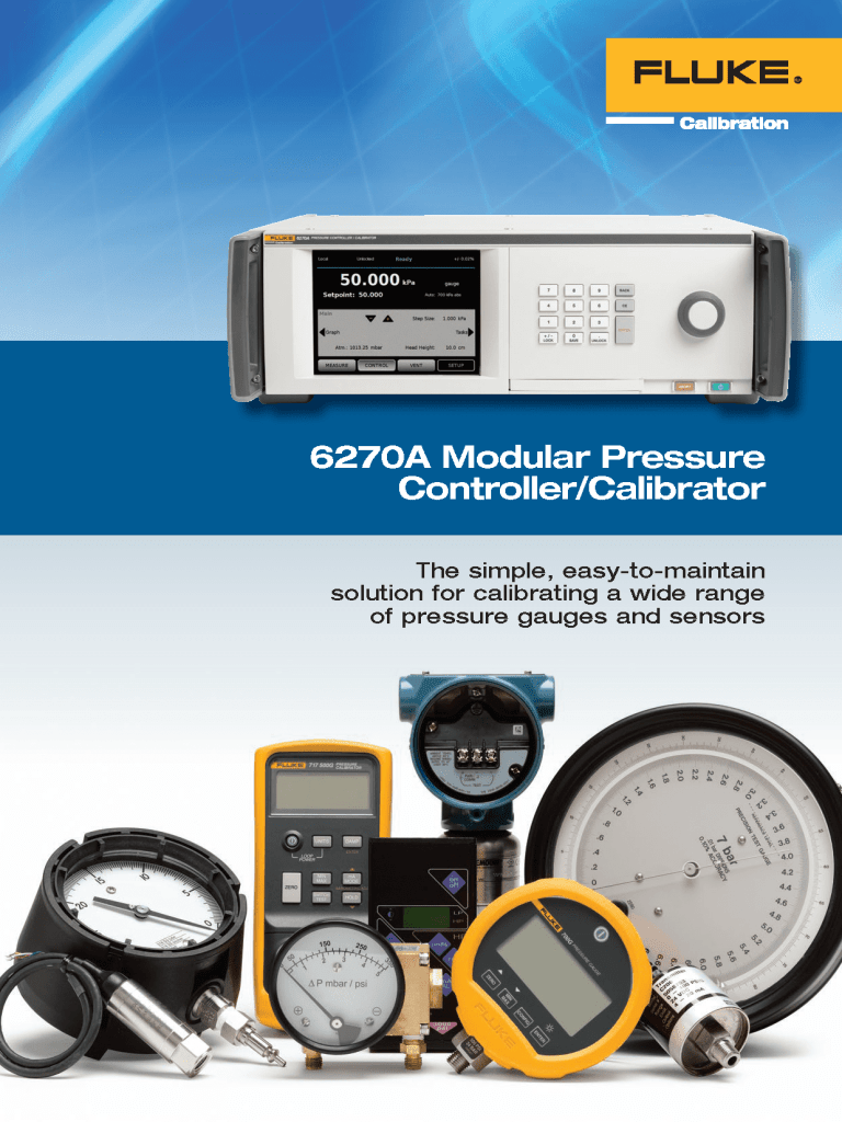FCAL 6270A Pressure Brochure