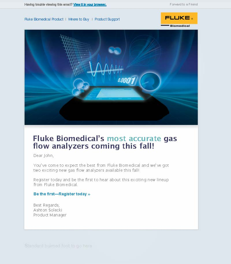 Fluke Biomedical New Product, VT650/VT900 Teaser Email
