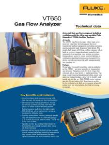 Fluke Biomedical New Product, VT650 Datasheet