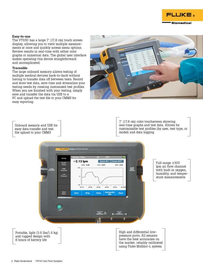 Fluke Biomedical New Product, VT650 Datasheet