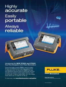 Fluke Biomedical New Product, VT650/VT900 Full Page Ad