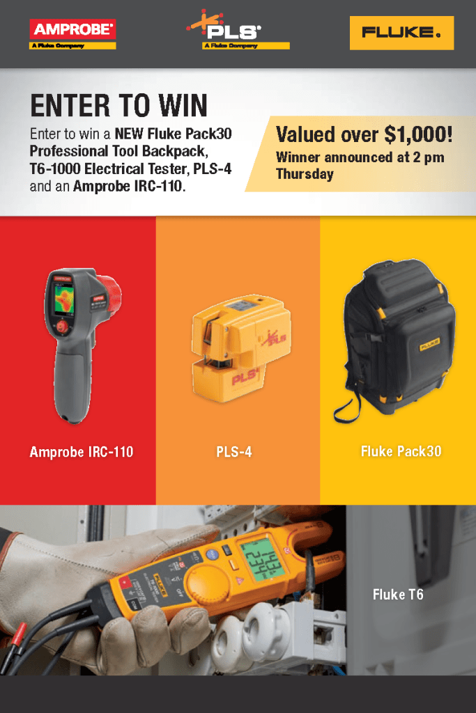 Fluke Tri-brand Skills USA Backpack Giveaway, Card, front