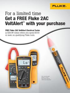 Fluke Volt Alert Promo, Flyer