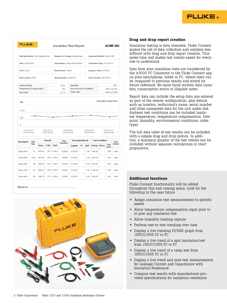 Fluke Connect Insulation Testers Data Sheet