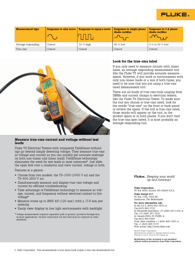 True-rms T5/T6 Application Note