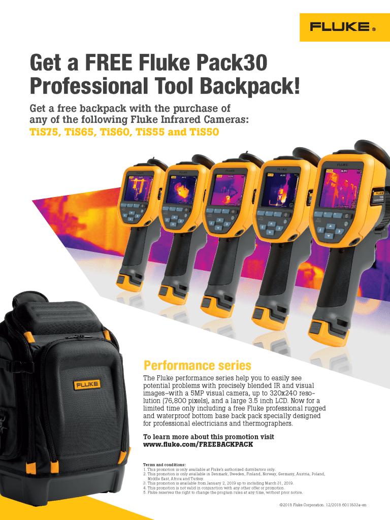 TiS50/TiS75 + Free Backpack Promo Flyer