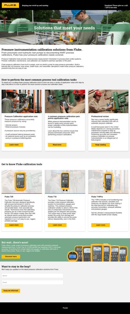 Process Tool Pressure Calibration Web Page Concepts
