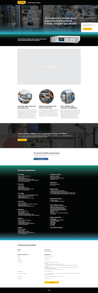 8558A Landing Page