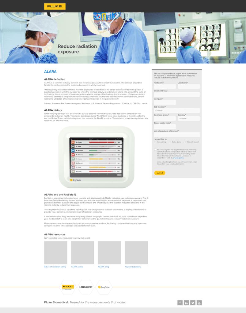 ALARA i3 Web Page, Desktop