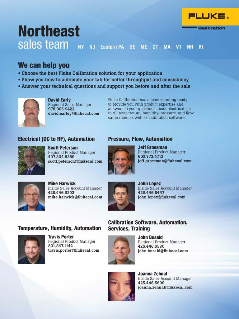 FCAL North East Sales Team Flyer