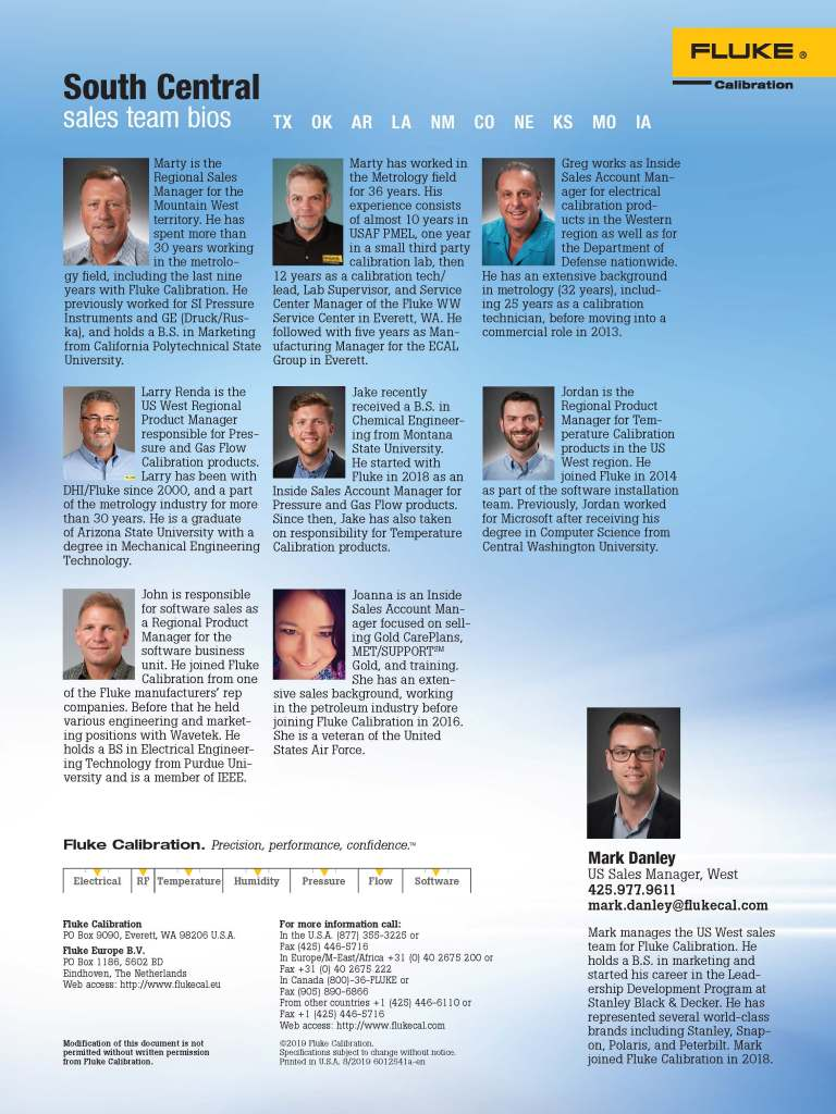 FCAL South Central Sales Team Flyer