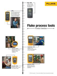 Fluke Process Tools 25 Years White Paper