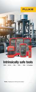 Fluke Intrinsically Safe Tools Trade Show Banner