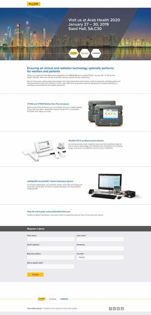 Arab Health 2020 Web Page