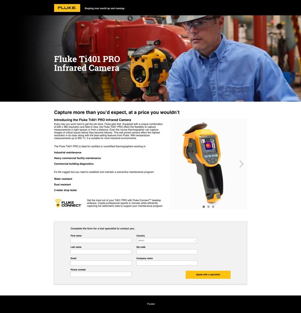 Ti401 Pro Web Page, Desktop