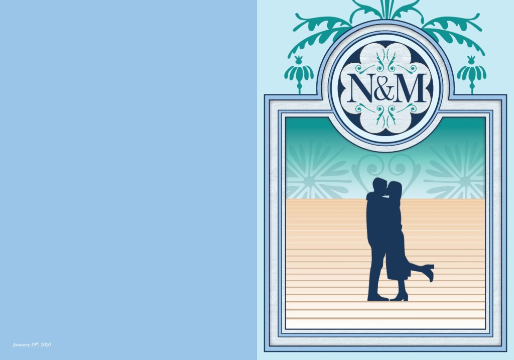 N&M Wedding Card