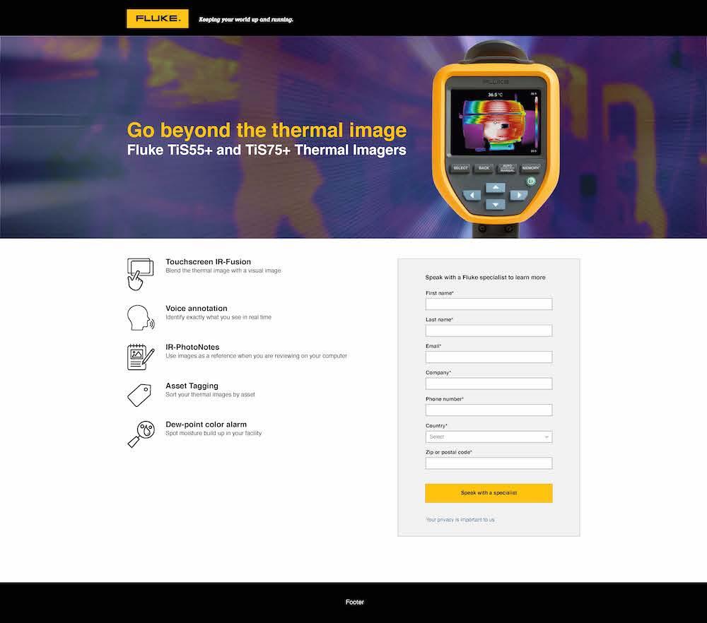 Fluke TiS55+ and TiS75+ Web Page
