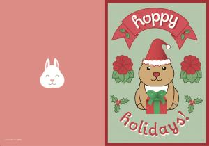 Hoppy Holidays, Christmas Card