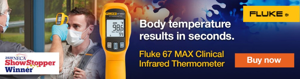 Fluke 67 MAX Clinical Infrared Thermometer Campaign, NECA Web Banners