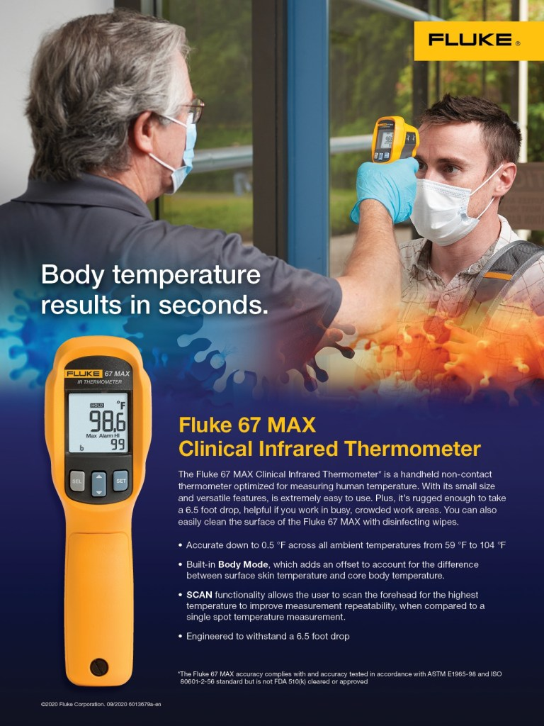 Fluke 67 MAX Clinical Infrared Thermometer Campaign, Flyer