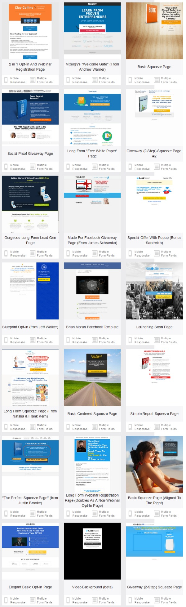 Leadpages Plans, Costs, Benefits & Tutorials – 2018 Update Review