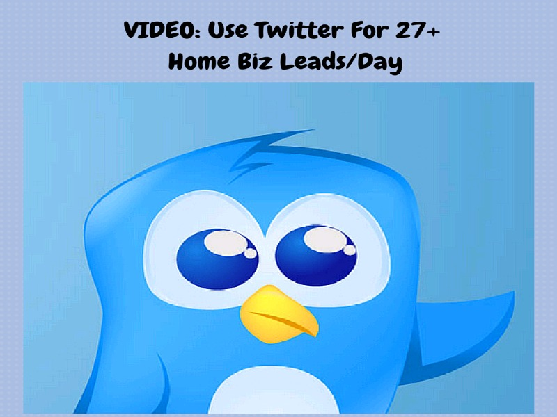 Video: 27+ Home Biz Leads/Day - 10 Minute Twitter Strategy