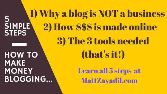How To Make Money Blogging - 5 Actionable Steps You Can Finish Today