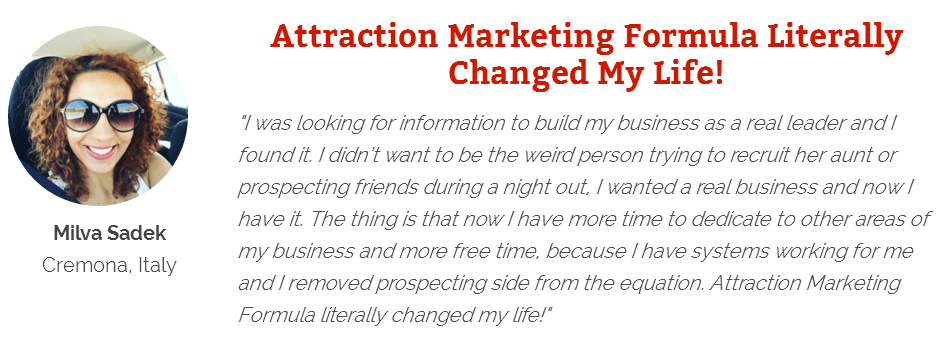 Attraction marketing works well