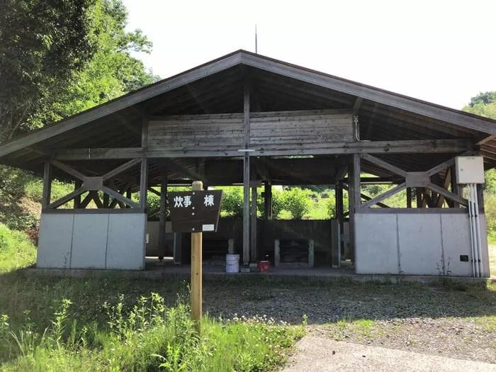 真備美しい森キャンプ場の炊事棟