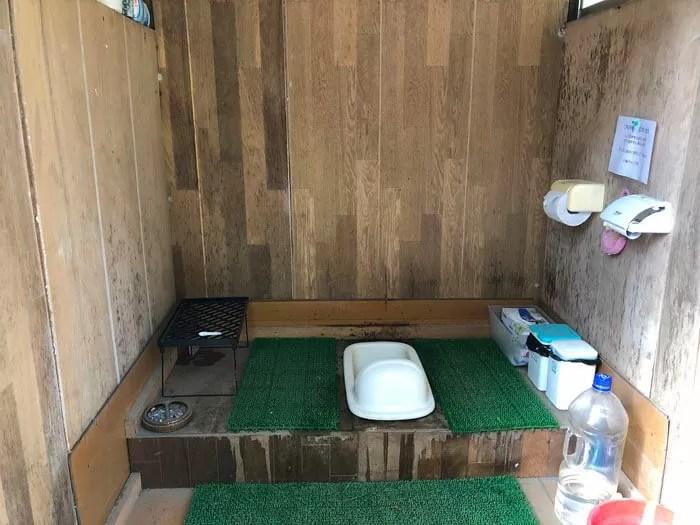 小森キャンプ村のトイレ