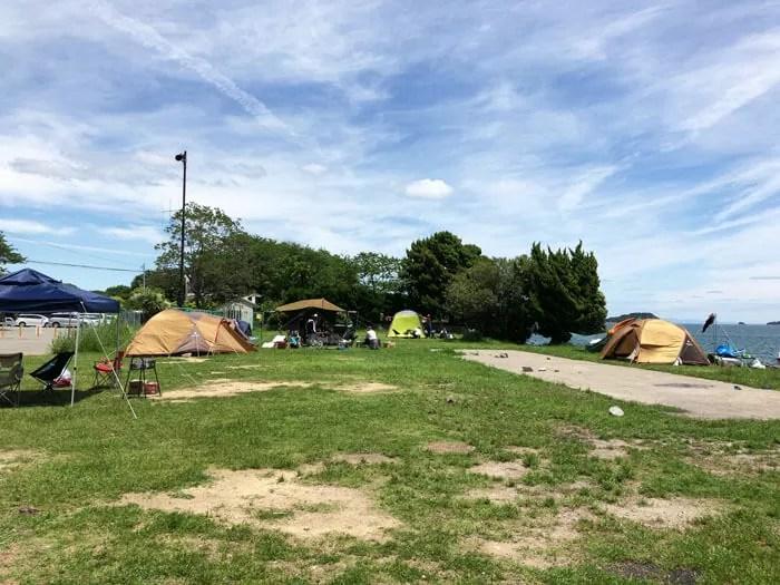 丸山県民サンビーチキャンプ場の芝サイト