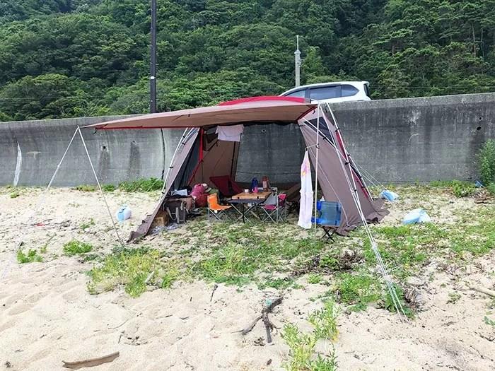 笹川流れホウヤハマで海キャンプ
