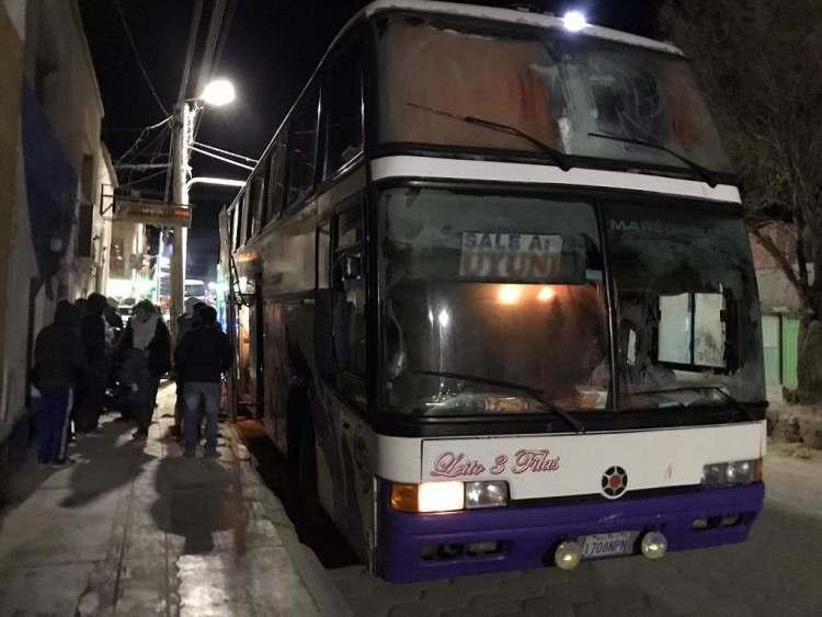 ウユニ行きのバス
