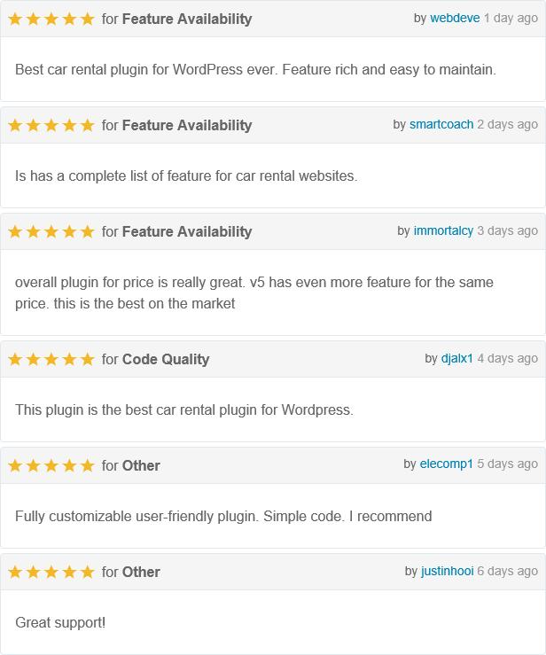 Car Rental System (Native WordPress Plugin) - 7