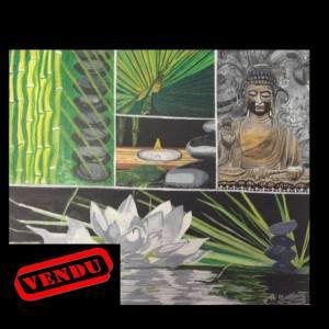 """""""  Bouddha et fleur de Lotus """" Vendu 130 Euros"""