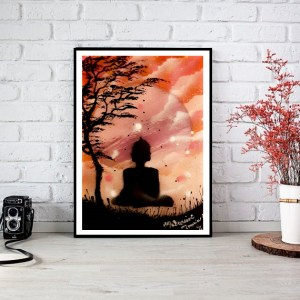 """ Bouddha méditation "" Disponible format A3"