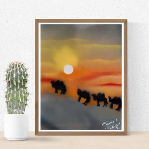 """Poster """" Les dunes du Sahara """" format A3 Disponible"""