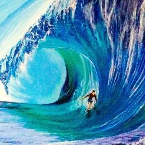 """"""" La vague avec surf """" Disponible"""